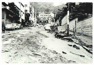 六甲砂防 - 六甲山の災害と対策 | 昭和42年7月豪雨 災害写真